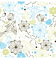 Retro seamless pattern with flowers and birds vector image vector image