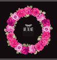 roses floral wreath vector image vector image