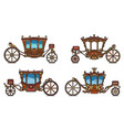 royal wheel transport or vintage carriage set vector image vector image