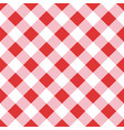 seamless red table cloth texture diagonal lines vector image vector image