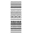 set geometric pattern brushes in tribal ethnic vector image vector image