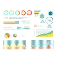 Set of Elements for Wind Infographics vector image vector image