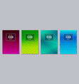set of flyer posters banners placards brochure vector image vector image