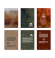 Set of poster templates vector image vector image