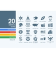 Set of United States icons vector image vector image
