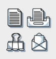 set office tool to company information report vector image