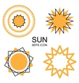 set sun icons vector image vector image
