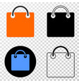 shopping bag eps icon with contour version vector image vector image
