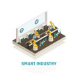 smart industry composition vector image vector image