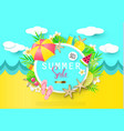 summer sale banner with sweet travel vacation vector image