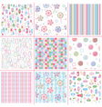 sweet patterns vector image vector image