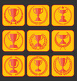 trophy and awards retro vintage collection 7 vector image vector image