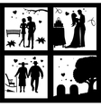 True Love Until Death Silhouette vector image