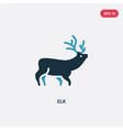 two color elk icon from animals concept isolated vector image