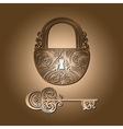 Vintage Lock with a Key vector image vector image
