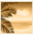 vintage sepia tropical scene vector image vector image