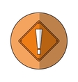 warning alert attention sign icon beige background vector image