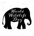 World Wildlife Day vector image