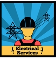 Electricity icon poster vector image
