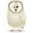 cartoon barn owl character vector image