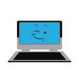 kawaii laptop technology funny cartoon vector image