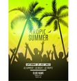 Summer beach party design template Party people vector image