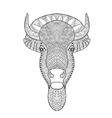 Zentangle stylized bull head vector image