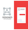 abstract design online grey logo design and vector image vector image