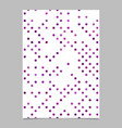 abstract dot pattern brochure design - document vector image vector image