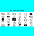 all message icons vector image vector image