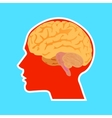 An of the human brain vector image vector image