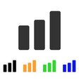 bar chart increase icon vector image vector image