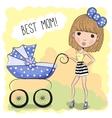 Best mom vector image