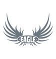 bird wing logo simple gray style vector image vector image