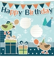 Birthday design elements for scrapbook vector image vector image