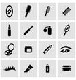 black cosmetics icon set vector image vector image