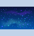 bright stars in blue night sky vector image vector image