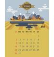 Calendar of october vector image
