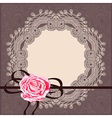 card pattern with circle napkin ribbon vector image