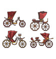 carriages xix century french chariot in line vector image vector image