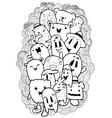 cartoon doodle sketch vector image