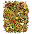 cartoon doodles latin america funny vector image vector image