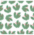 christmas seamless pattern with tree branches and vector image vector image