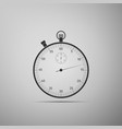 classic stopwatch icon timer icon chronometer vector image vector image