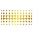 clubs suit golden halftone array vector image