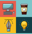 creative process icon flat vector image vector image