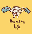 cute funny tofu character vector image
