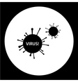 dangerous virus symbol simple black icon eps10 vector image vector image