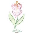 Doodle color abstract handdrawn gladiolus vector image vector image