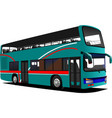 double decker sightseeing bus vector image vector image